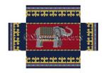 "0384 Elephant, brick cover #13 Mesh 8 1/2"" x 4 1/2"" x 2 3/4"" Susan Roberts Needlepoint"