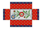 "0385 Fleurs Patchw!rk, brick cover 13 Mesh 8 1/2"" x 4 1/2"" x 2 3/4"" Susan Roberts Needlepoint"