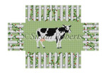"0370 Cow ln A Fence, brick cover 13 Mesh 8 1/2"" x 4 1/2"" x 2 3/4"" Susan Roberts Needlepoint"