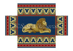 "0386 Lion, brick cover #13 Mesh 8 1/2"" x 4 1/2"" x 2 3/4"" Susan Roberts Needlepoint"