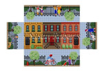 "0391 Brownstone Walk, brick cover #13 Mesh 8 1/2"" x 4 1/2"" x 2 3/4"" Susan Roberts Needlepoint"