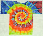 Waterweave CO1505 Tie Dye T-Shirt Ornament, hanger ond slitch  Guide 18 Mesh 5 x 4