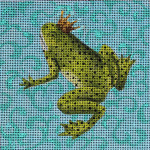 AN175 Colors of Praise 18 Mesh Frog with Crown 5x5