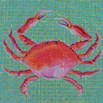 AN189 Colors of Praise 13 Mesh Art Crab 12x12