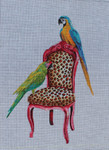 AN188 Colors of Praise 18 Mesh Parrots on Chair 11 x 15