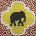 AN186 Colors of Praise  Mesh Art Black Elephant 11 1/2 x 11 1/2