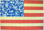 "KB 032 Kirk And Bradley Designs 13 Mesh Floral Flag- Stars and Stripes 14"" x 20"""