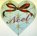 """KB 052 Kirk And Bradley Designs 18 Mesh Noel Heart  5"""" x 5"""""""