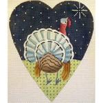 "KB 063 Kirk And Bradley Designs 18 Mesh Midnight Turkey Heart  5.25"" x 4.25"""
