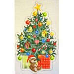 """KB 079 Kirk And Bradley Designs 18 Mesh Christmas Tree  6.5"""" x 4"""""""
