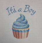 "KB 1201 Kirk And Bradley Designs 18 Mesh Its A Boy Cupcake Standup 8.5"" square"