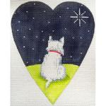 "KB 355 Kirk And Bradley Designs 18 Mesh White Highland Terrier Midnight 5.25"" x 4.25"""