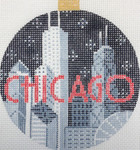 "KB 1173 Kirk And Bradley Designs 18 Mesh City Bauble - Chicago 4"" round"