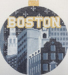 "KB 1174 Kirk And Bradley Designs 18 Mesh City Bauble - Boston 4"" round"