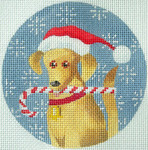 KB 280 Kirk And Bradley Designs 18 Mesh Golden Labrador Xmas Circle  4""