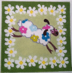 "KB 105 Kirk And Bradley Designs 13 Mesh Single Sheep Floral 6"" square"
