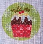 "KB 256 Kirk And Bradley Designs 18 Mesh Christmas Cupcake Holly 4"" round"