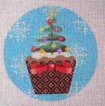 """KB 257 Kirk And Bradley Designs 18 Mesh Christmas Cupcake Xmas Tree  4"""" round"""