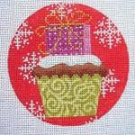 "KB 258 Kirk And Bradley Designs 18 Mesh Christmas Cupcake Present 4"" round"