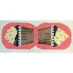 "KB 187 Kirk And Bradley Designs 18 Mesh Chocolate Cupcake Scissor Finder 1.25"" x 3"""