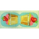 "KB 188 Kirk And Bradley Designs 18 Mesh Strawberry Cupcake Scissor Finder  1.25"" x 3"""