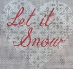 "KB 226 Kirk And Bradley Designs 18 Mesh Let-it-snow Heart 5"" x 5"""