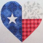 "KB 335 Kirk And Bradley Designs 13 Mesh Texas Floral Heart 5"" x 4.75"""