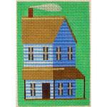 "KB 228  Kirk And Bradley Designs 18 Mesh Blue Prairie House Key Fob 3.75"" x 2.5"""