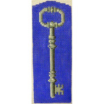 "KB 232 Kirk And Bradley Designs 18 Mesh Blue Key Fob  5"" x 2"""