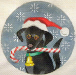 KB 246 Kirk And Bradley Designs 18 Mesh Black Labrador Xmas Circle