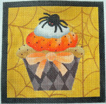 "KB 272 Kirk And Bradley Designs 18 Mesh Spider Halloween Cupcake 5"" square"