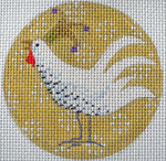 KB 292 Kirk And Bradley Designs 13 Mesh Speckled Chicken Xmas Circle