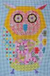 """KB 299-13 Kirk And Bradley Designs 13 Mesh Wise Owl 13.5"""" x 9"""""""