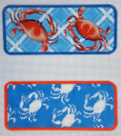 "KB 374A Kirk And Bradley Designs 18 Mesh Two Blue Crabs Eyeglass Case 3"" x 6.75"""