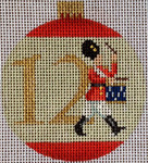 "KB 1189 Kirk And Bradley Designs18 Mesh 12 Days Bauble- 12 Drummers 3"" x 2.75"""
