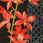 "KB 451 Kirk And Bradley Designs 13 Mesh Red Orchid on Black 5"" x 5"""