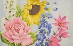 "KB 1144 Kirk And Bradley Designs 13 Mesh Garden Floral 14"" x 22"""
