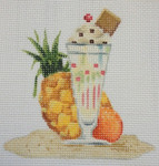 "KB 1164 Kirk And Bradley Designs 18 Mesh Retro Beach- Knickerbocker Glory  3.75"" x 4"""