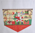 KB 1225 Kirk And Bradley Designs 18 Mesh North Pole Stocking Topper Santa's