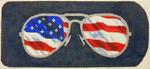 "KB 132 Kirk And Bradley Designs 18 Mesh Eyeglass Case Flag Ray-bans 3"" x 6.75"""