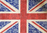 "KB 1175 Kirk And Bradley Designs 13 Mesh Floral Flas- Union Jack 14"" x 20"""
