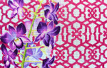 "KB 382 Kirk And Bradley Designs 13 Mesh Orchid / Trellis 22"" x 14"""