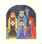 OR-10 Wise Men J. MALAHY DESIGNS CHRISTMAS Ornament 18 Mesh n
