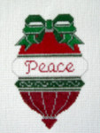 OR-5 Peace bell J. MALAHY DESIGNS CHRISTMAS Ornament 18 Mesh