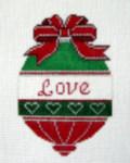 OR-7 Love bell J. MALAHY DESIGNS CHRISTMAS Ornament 18 Mesh