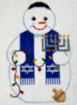 SN-1 Hanukkah Snowman  J. MALAHY DESIGNS CHRISTMAS Ornament 18 Mesh