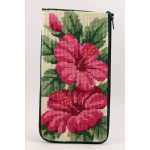 APSZ318 Hibiscus Alice Peterson Stitch And Zip EYEGLASS CASE