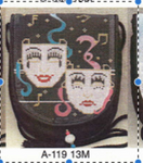 A-119 Laugh and Cry 13M Sophia Designs Purse