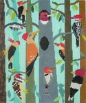 AS756 Woodpecker Hoilow 10 x 12 Birds Of A Feather