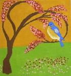 LO101 BlueBird 11 x12 13 Mesh Birds Of A Feather